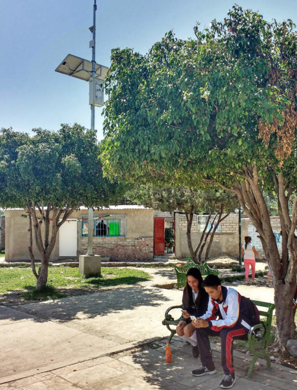 Students using Cambium Networks Public Smart Cities Wi-Fi from Cambium Networks in Guanajuato, Mexico